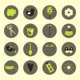 redigerbara fulla trädgårds- symboler för eps mer min portfölj Arkivfoton