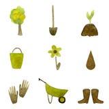 redigerbara fulla trädgårds- symboler för eps mer min portfölj Arkivbilder