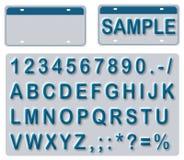 redigerbara tomma registreringsskylttexter Fotografering för Bildbyråer