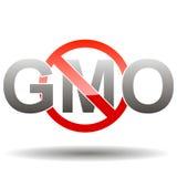 Redigerbart GMO-fritt tecken Royaltyfria Foton