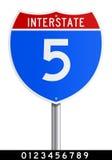 redigerbart interstate tecken Royaltyfri Fotografi