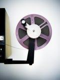 Redigieren der Maschine und der Spule des Purpurs 8mm Lizenzfreie Stockfotografie