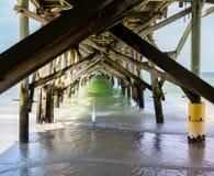 Redington海滩和码头在皮尼拉斯县 库存图片