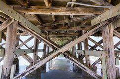 Redington海滩和码头在皮尼拉斯县 免版税库存照片