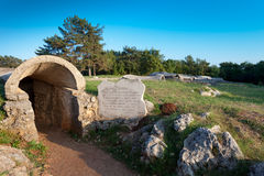 Redipuglia, first world war covered trenches. Stock Image