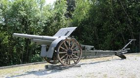 Free Redipuglia, GO, Italy - June 3, 2017: Ancient Cannon Used During Royalty Free Stock Photography - 146113177