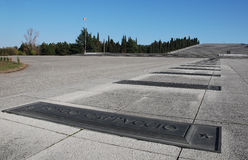 Redipuglia Military Cemetery stock photo