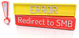 Redirect to SMB - Computer system error warning - 3D Render Royalty Free Stock Images