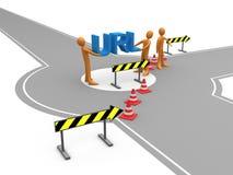 Redirection de site Web Image stock