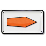 Redirection, detour and alternative. Traffic sign redirection, detour and alternative Royalty Free Stock Image