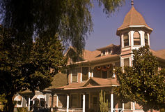 Redlands Victorian Home. This is a picture of a Victorian home in Redlands, California Stock Images