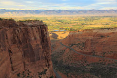 Colorado National Monument. Redlands View from the west entrance of Colorado Colorado National Monument near sunset period stock images