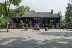 Redlichkeit des Chengdu-wuhou Tempel-Tempels drei Stockfoto