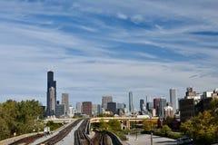 Redline a skyline Imagens de Stock Royalty Free