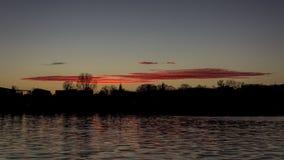 Redline solnedgången Arkivfoton
