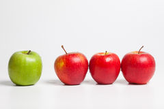 Redlined green apple Royalty Free Stock Photos