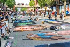 Redmond Chalkfest Event arkivbilder