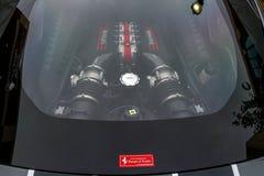 Redmond, WA - 29-ое апреля 2017: Экзотическая выставка автомобиля на городском центре Redmond Стоковое Изображение RF