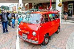 Redmond, WA - 29-ое апреля 2017: Экзотическая выставка автомобиля на городском центре Redmond Стоковая Фотография RF