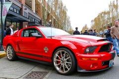 Redmond, WA - 29-ое апреля 2017: Экзотическая выставка автомобиля на городском центре Redmond Стоковая Фотография