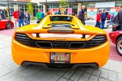Redmond, WA - 29 de abril de 2017: Feira automóvel exótica em Redmond Town Center Foto de Stock Royalty Free