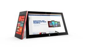 REDMOND, WASHINGTON (los E.E.U.U.) - 24 de abril de 2014 - tableta de la superficie de Microsoft en la exhibición Foto de archivo