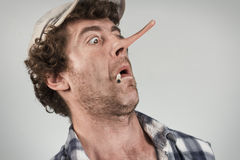 Redneck Liar Royalty Free Stock Photography