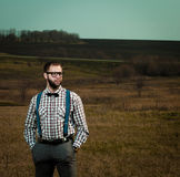 Redneck nerd man Stock Image