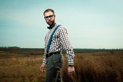 Redneck nerd man Stock Photos