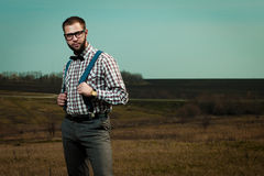 Redneck nerd man Royalty Free Stock Photos