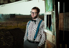 Redneck nerd man Royalty Free Stock Photo