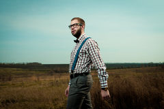Redneck nerd man Stock Images