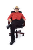 Redneck in the office Stock Image