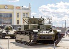 Średni zbiornika T-28 mod 1933 Pyshma, Ekaterinburg, Rosja - Zdjęcia Stock