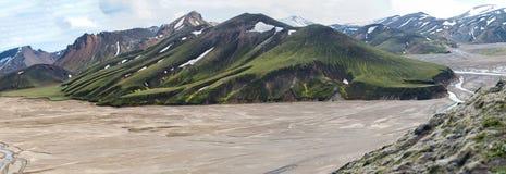 Średniogórza Iceland Zdjęcie Stock