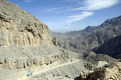 średniogórza musandam Oman Obraz Stock