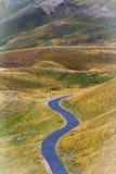 Średniogórza road Góry w jesieni Krajowy natura park Zdjęcia Stock