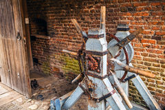 Średniowieczna budowa otwarta grodowa brama w Muiderslot kasztelu holland Fotografia Royalty Free
