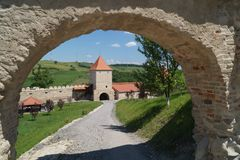 Średniowieczna cytadela Rupea 1324, Brasov, Transylvania, Rumunia Obraz Stock