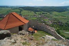Średniowieczna cytadela Rupea 1324, Brasov, Transylvania, Rumunia Fotografia Royalty Free