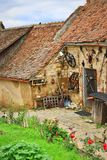 Średniowieczna domu Rasnov cytadela Transylvania Rumunia Zdjęcia Stock