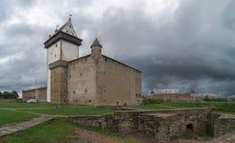 Średniowieczna fortyfikacja, lato wieczór obraz stock