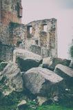 średniowieczna grodowa ruina Zdjęcie Stock