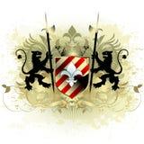 średniowieczna heraldyczna shield Zdjęcia Stock