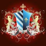 średniowieczna heraldyczna shield Zdjęcia Royalty Free