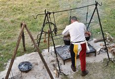 Średniowieczna kuchnia 4 zdjęcia stock