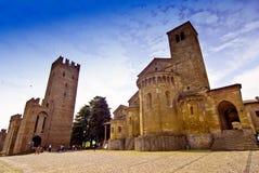 średniowieczna kwadratowa wioska Fotografia Royalty Free