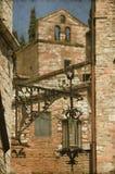 Średniowieczna latarnia uliczna - rocznik Zdjęcie Royalty Free