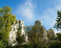 Średniowieczna ruina kasztel Zdjęcie Royalty Free