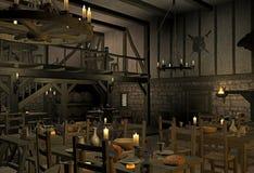średniowieczna tawerna zdjęcie stock